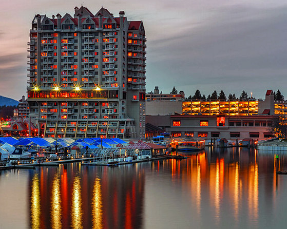 Coeur d'Alene Resort at Night